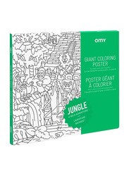 Omy Jungle Large Poster, White/Black