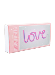 A Little Lovely Company Love Neon Light, Pink