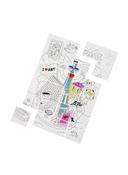Omy 12-Piece Paris Coloring Puzzle