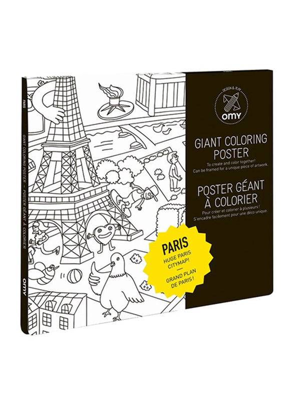 Omy Paris Large Poster, Black/White