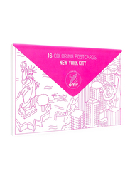 OMY New York City Coloring Postcards, 16 Pieces, Ages 3+