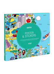 Omy Atlas Large Poster, with Stickers