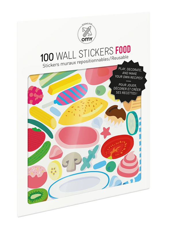OMY Food Wall Stickers Set, 100 Pieces, Ages 3+
