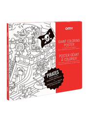 Omy Pirates Large Poster, Black/ White