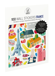 OMY France Wall Stickers Set, 100 Pieces, Ages 3+
