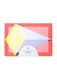 Omy Graphic Weekly Deskpad, Pink
