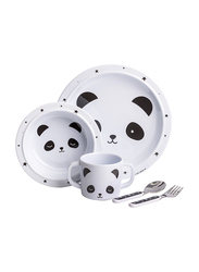 A Little Lovely Company Panda Dinner Set, White/Black
