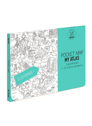 OMY Atlas Pocket Map, 13 Pieces, Age 3+