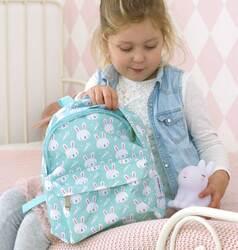 A little Lovely Company Rabbits Mini Backpack Bag for Girls, Green