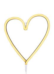 A Little Lovely Company Neon Light, Heart, Yellow