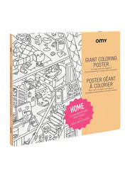 Omy Home Large Poster, White/Black