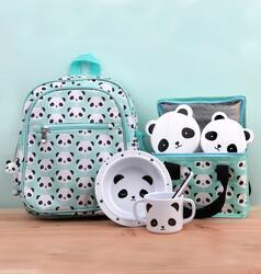 A Little Lovely Company Panda Backpack Bag for Girls, Green