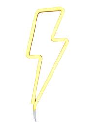 A Little Lovely Company Neon Light, Bolt, Yellow
