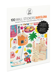 OMY Barcelona Wall Stickers Set, 100 Pieces, Ages 3+