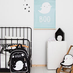 A Little Lovely Company Ghost Backpack Bag for Boys, Blue