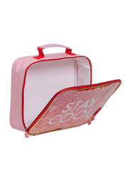 A Little Lovely Company Stay-Cool Text Printed Cool Bag for Kids, Red
