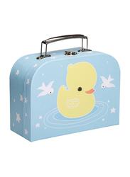 A Little Lovely Company Duck Little Suitcase, Blue