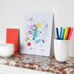 Omy 12-Piece New York Coloring Puzzle
