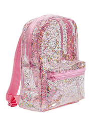 A Little Lovely Company Glitter Backpack Bag for Girls, Pink/Transparent