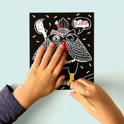 OMY Loula Mini Kit Scratchboard, Ages 3+