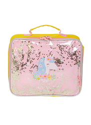 A Little Lovely Company Unicorn Glitter Cool Bag for Kids, Pink