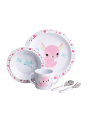 A Little Lovely Company Deer Dinner Set, White