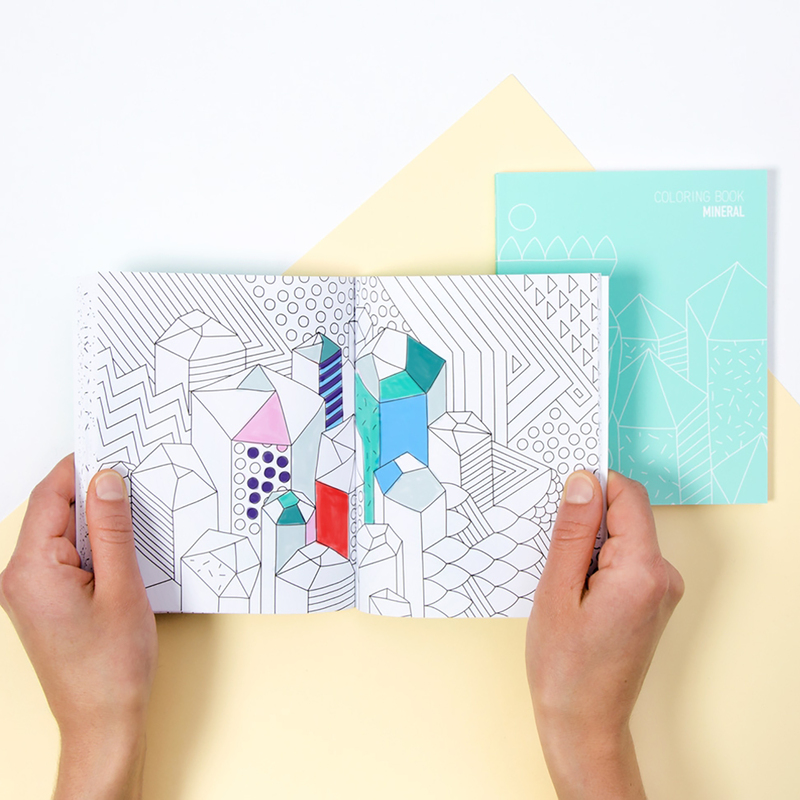 OMY Mineral Coloring Notebook, Ages 3+