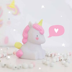 A Little Lovely Company Mini Light, Unicorn, White