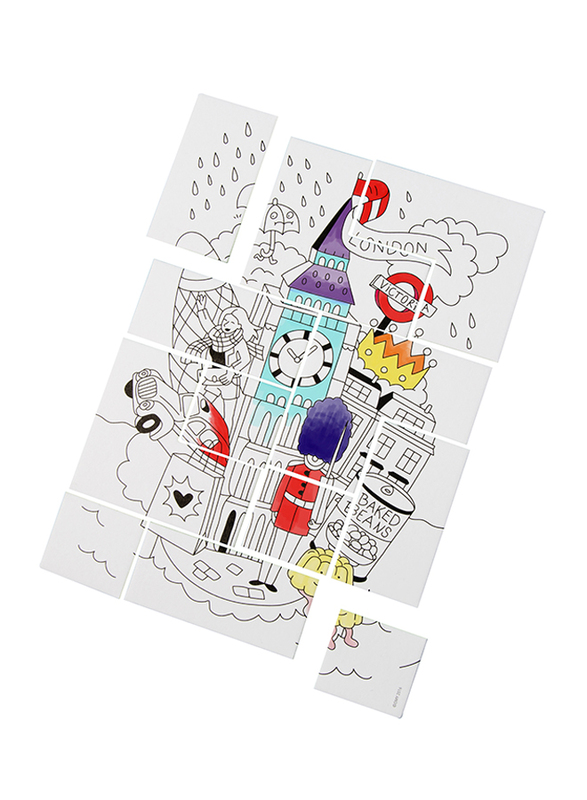 Omy 12-Piece London Coloring Puzzle