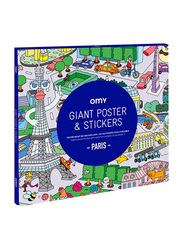 Omy Paris Large Poster, with Stickers