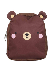 A Little Lovely Company Bear Little Backpack Bag for Kids, Brown