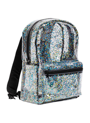 A Little Lovely Company Glitter Backpack Bag for Girls, Black/Transparent