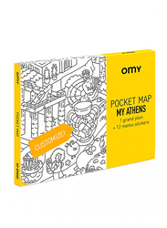 OMY Athens Pocket Map, 13 Pieces, Age 3+