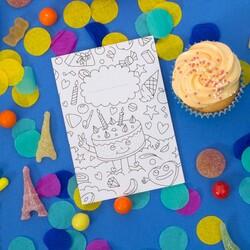 Omy Invitation Cards Birthday Set, 8 Piece, Black/White