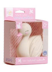 A Little Lovely Company Swan Natural Rubber Teething Toy, White