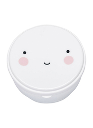A Little Lovely Company Snack Box Happy Face, White