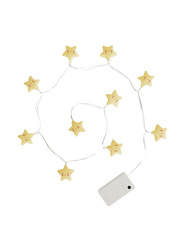 A Little Lovely Company String Light, Stars, Yellow