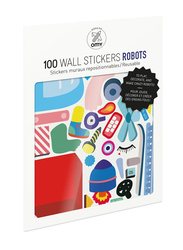 OMY Robot Wall Stickers Set, 100 Pieces, Ages 3+