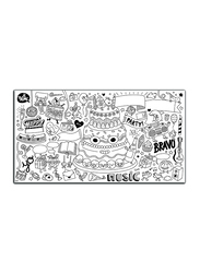 OMY Fiesta XXL Coloring Roll Poster, Ages 3+