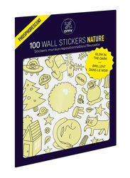 OMY Glow in the dark Nature Wall Stickers Set, 100 Pieces, Ages 3+