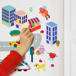 OMY City Wall Stickers Set, 100 Pieces, Ages 3+