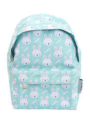 A little Lovely Company Rabbits Mini Backpack Bag for Girls, Green
