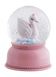 A Little Lovely Company Snowglobe Light, Swan, Pink