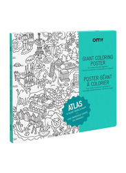 Omy Atlas Large Poster, White/Black
