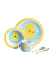 A Little Lovely Company Duck Dinner Set, Yellow/Blue/White