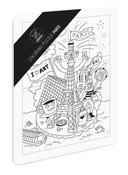 Omy 12-Piece Paris Coloring Puzzle