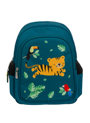 A Little Lovely Company Jungle Tiger Backpack Bag for Boys, Green