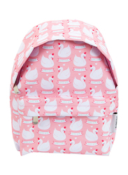 A little Lovely Company Swans Mini Backpack Bag for Girls, Pink