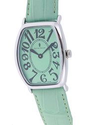 Prestige Analog Unisex Watch with Leather Band, Water Resistant, 21176 3P-VB, Green