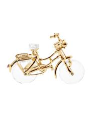 Swarovski Memories Bicycle Figurine Indoor Decorative Accents, Clear/Gold